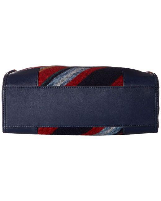 2ec654628835 Lyst - Tory Burch Ella Fabric Stripe Mini Tote in Blue - Save 50%