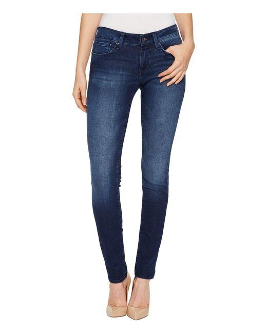 Mavi Jeans - Blue Alexa Mid-rise Skinny In Deep Shanti - Lyst