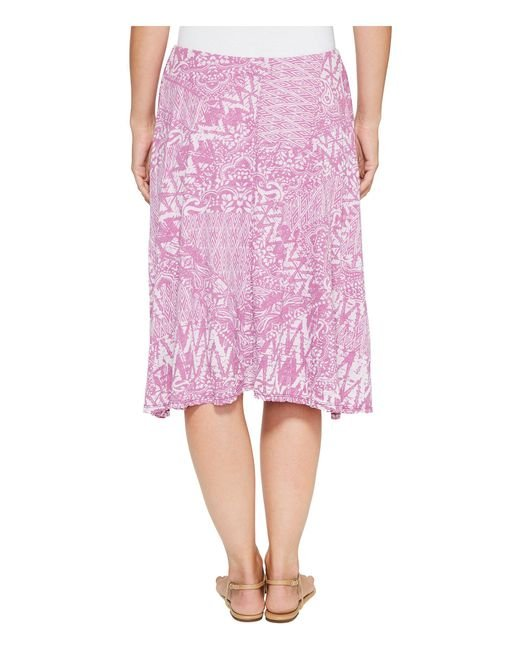 1c8f14e2235 ... Mod-o-doc - Pink Patchwork Burnout Jersey Swing Skirt With Lining - Lyst  ...