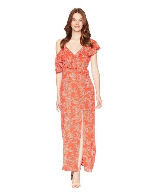 Amuse Society - Red Midnight Flower Dress - Lyst