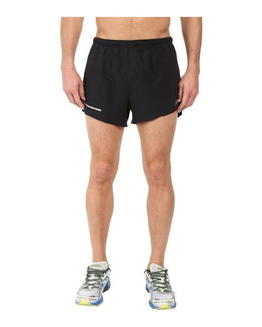 "New Balance - Black Impact 3"" Split Shorts for Men - Lyst"