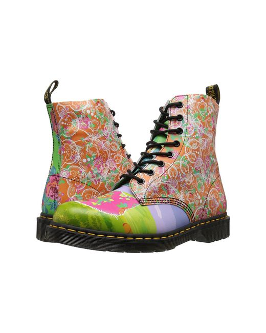 Dr. Martens - Multicolor Pascal Daze 8-eye Boot - Lyst