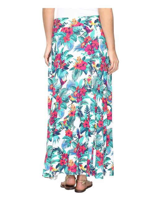 598881a62f Lyst - Tommy Bahama Jungle Florida Midi Skirt in Blue - Save 51%