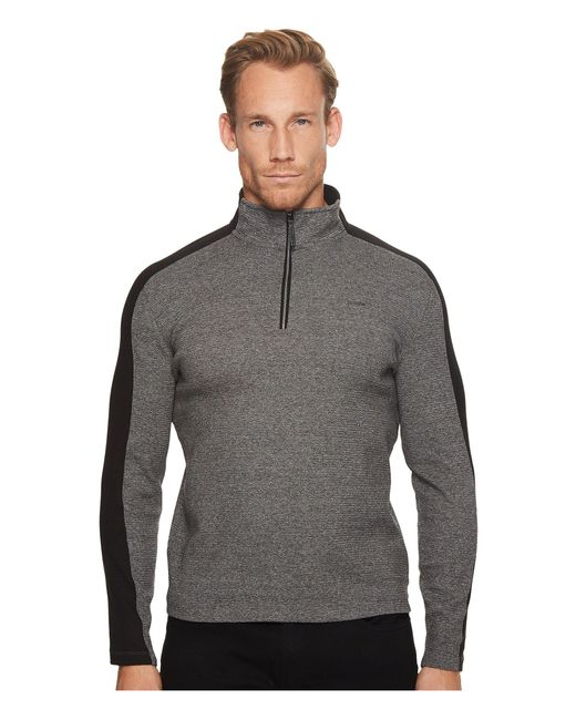 CALVIN KLEIN 205W39NYC - Gray Color Blocked 1/4 Zip Knit for Men - Lyst