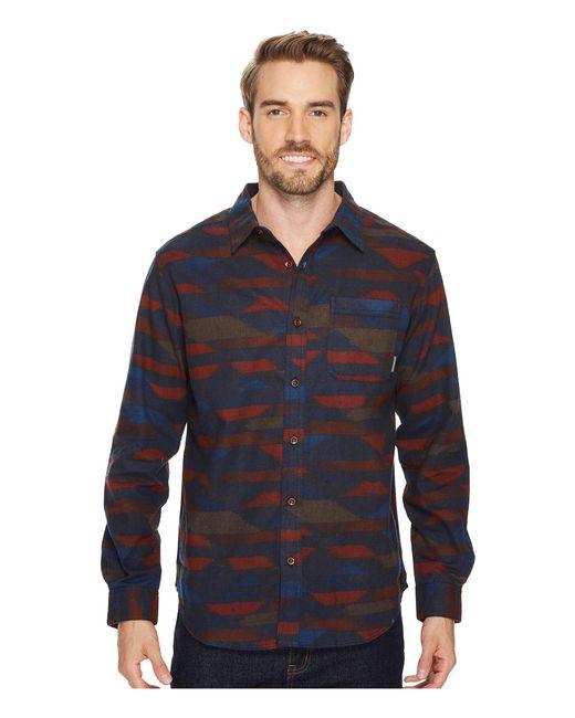 Columbia - Blue Boulder Ridge Printed Long Sleeve Shirt for Men - Lyst