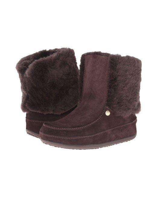 Fitflop - Womens Dark Brown Supercuff Mukluk Boots - Lyst