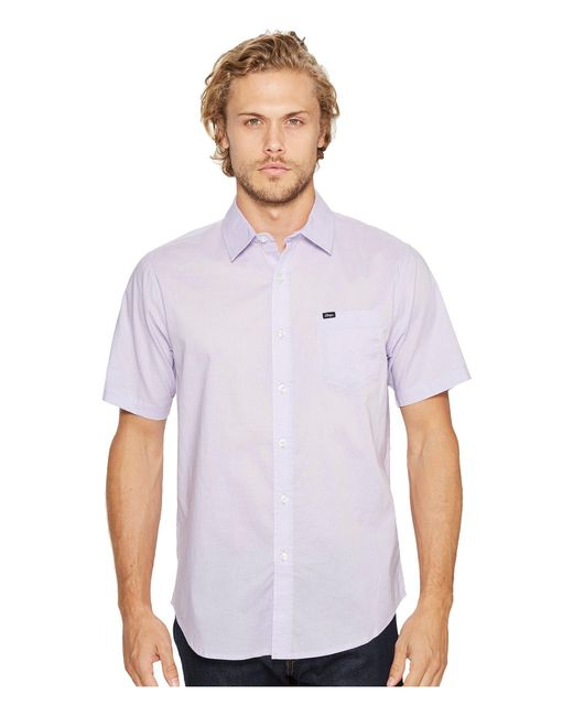 Obey - Purple Lou Woven Short Sleeve Shirt for Men - Lyst