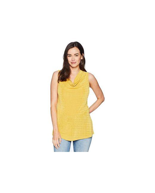 2ba62c2cee4105 Ellen Tracy - Yellow Sleeveless Top With Asymmetrical Hem (citrine)  Clothing - Lyst ...