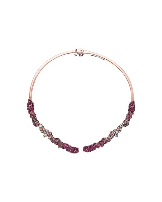 Betsey Johnson - Pink Hinge Collar Necklace - Lyst