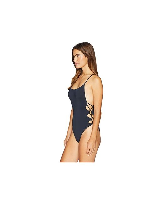 0d7886bf4c Roxy Printed Softly Love One Piece Swimsuit in Black - Save 40% - Lyst