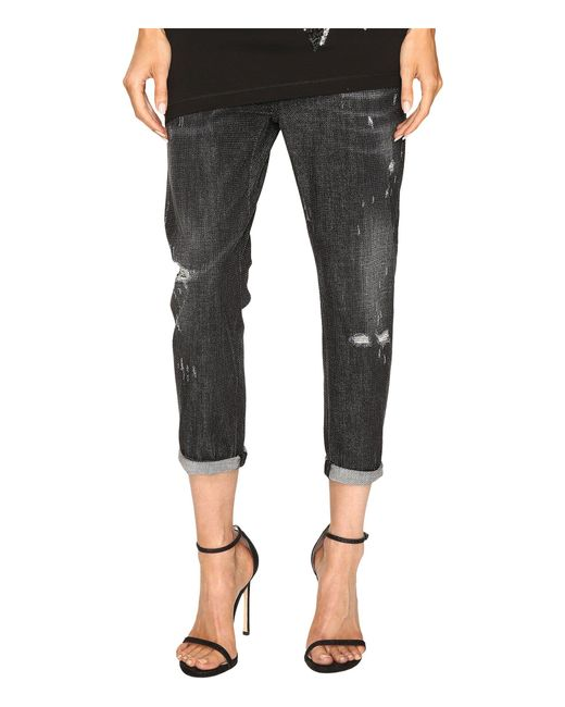 DSquared² - Black Cool Girl Cropped Jeans In Sparkle Wash - Lyst