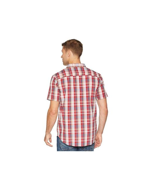 91fc0dc373e ... Columbia - Boulder Ridge Short Sleeve Top (red Element Plaid) Short  Sleeve Button Up