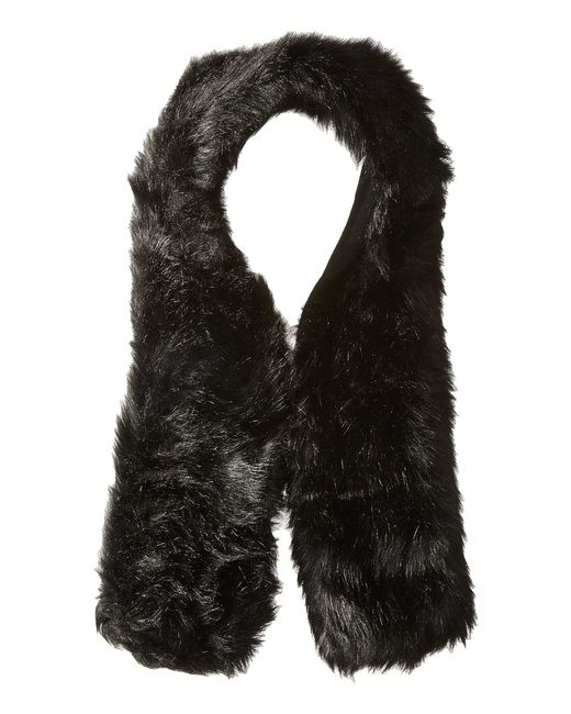 Hat Attack - Black Long Faux Fur Collar - Lyst