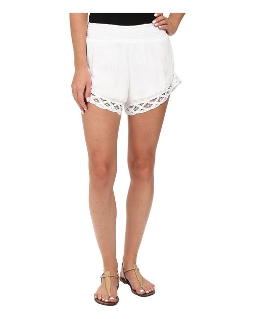 Volcom - White Dreamt It Shorts - Lyst