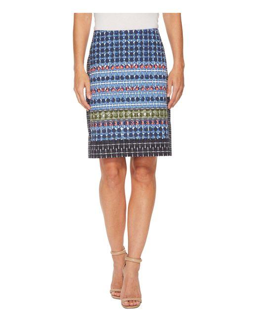 NIC+ZOE - Blue Tile Skirt - Lyst