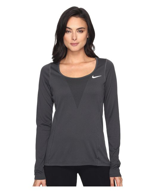 Nike - Black Zonal Cooling Relay Long Sleeve Running Top - Lyst