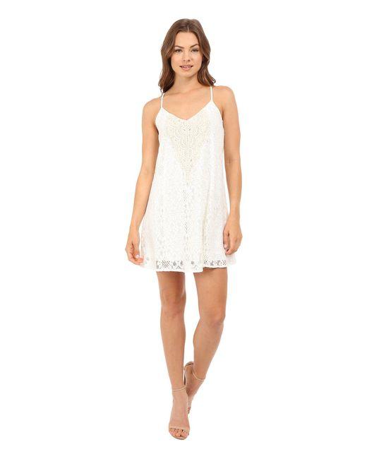 Brigitte Bailey | White Demi Spaghetti Strap Crocheted Dress | Lyst