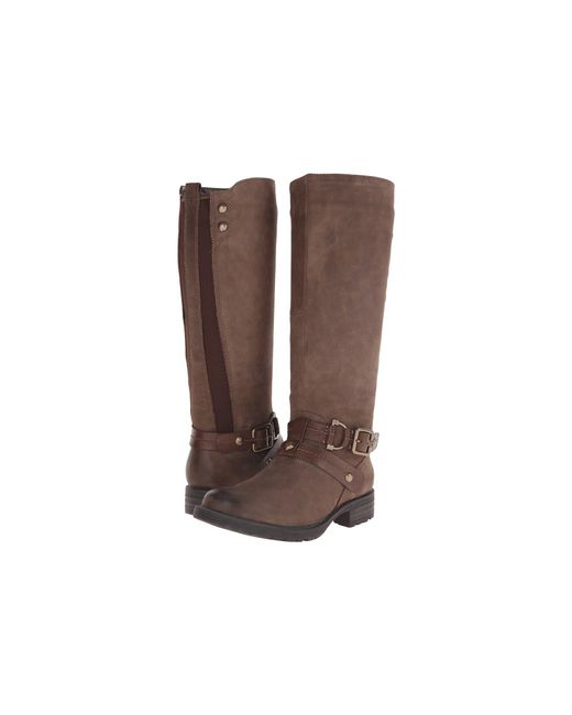 Earth - Brown Sierra Faux-Leather Knee-High Boots - Lyst