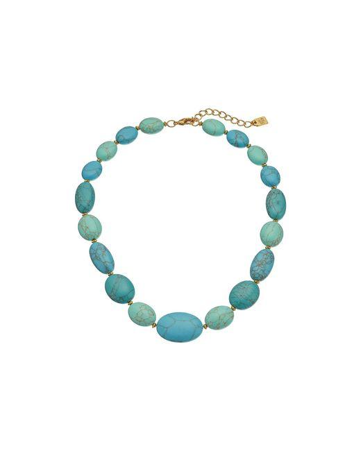 "Lauren by Ralph Lauren - Blue Paradise Found 18"" Turquoise Nugget Bead Necklace - Lyst"