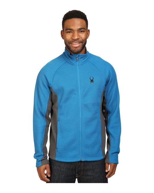 Spyder | Blue Constant Full Zip Mid Weight Core Sweater for Men | Lyst