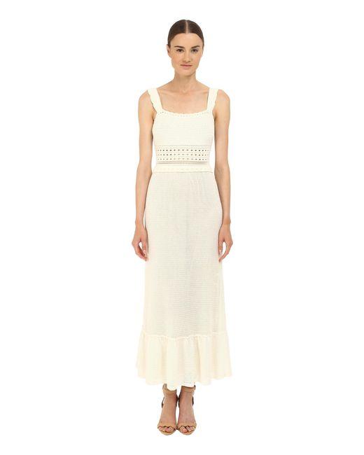 RED Valentino | White Crochet Maxi Dress | Lyst