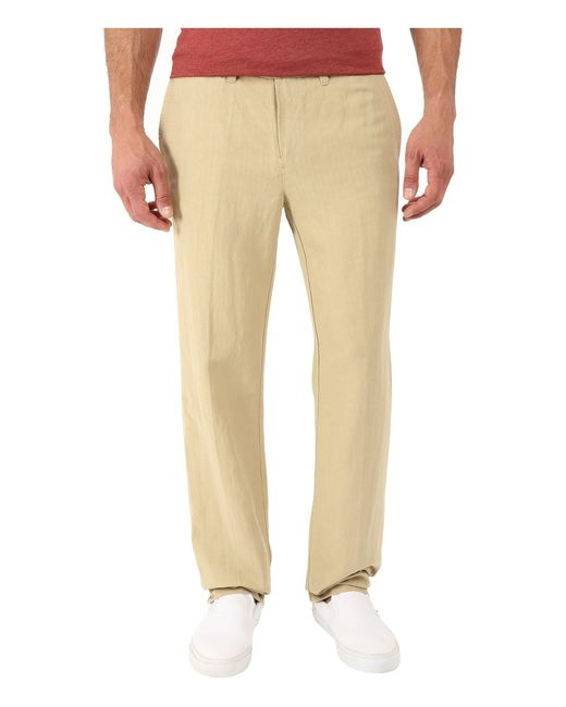 Tommy Bahama | Natural Corsica Flat Front Pants for Men | Lyst