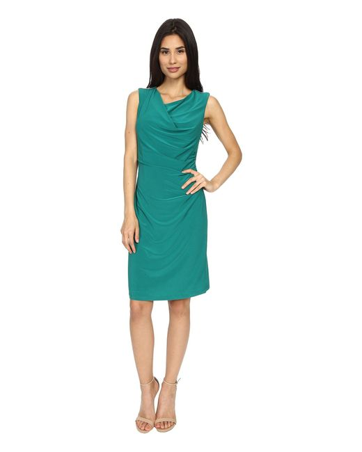 Rsvp   Green Susan Rouched Side Dress   Lyst