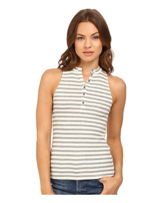 Project Social T | White Striped Polo Tank Top | Lyst