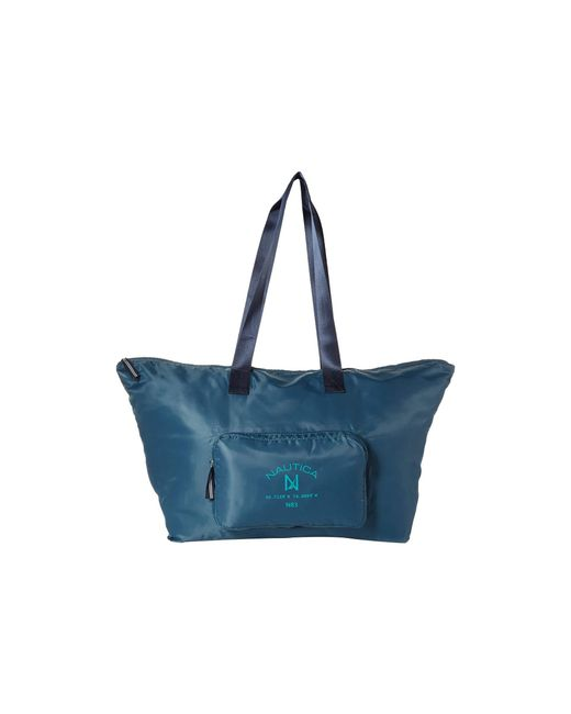 Nautica - Blue Logo Pocket Large Tote - Lyst