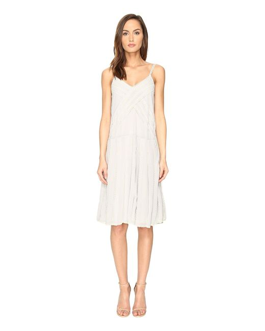 RED Valentino | White Georgette And Lace Dress | Lyst