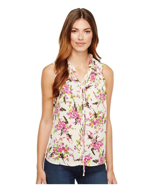 B Collection By Bobeau - Pink Dahlia Woven Tank Top - Lyst