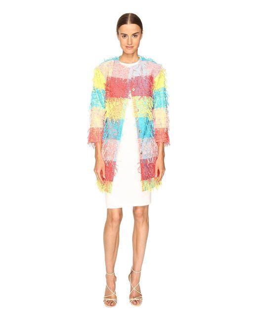 Boutique Moschino | Multicolor Confetti Cropped Coat | Lyst