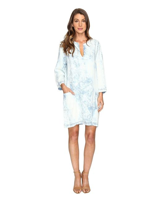 Karen Kane | Blue Acid Wash Shift Dress | Lyst