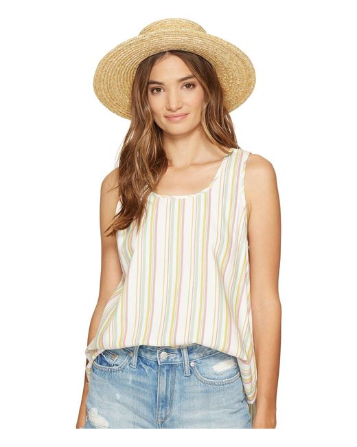 Jack BB Dakota | White Bowe Stripe Cotton Rayon V-back Tank Top | Lyst