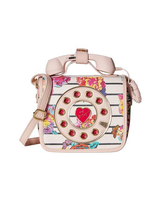 Betsey Johnson   Pink Mini Phone Crossbody   Lyst
