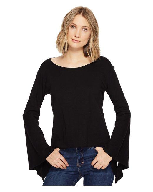 Blank NYC | Black Belle Sleeve Shirt In Shadow | Lyst