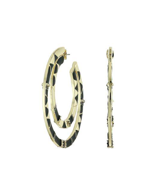 House of Harlow 1960 | Black Nelli Large Hoop Earrings | Lyst