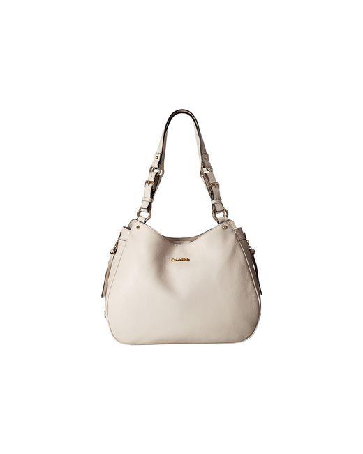 Calvin Klein   White Classics Pebble Hobo   Lyst