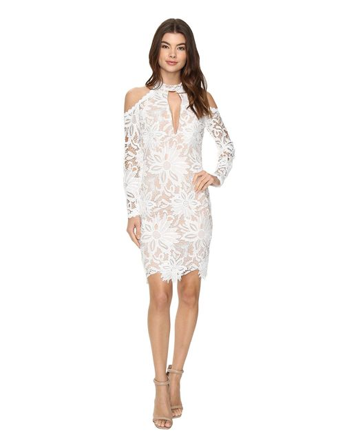 Nicole Miller - White Sunflower Lace Kendall Dress - Lyst