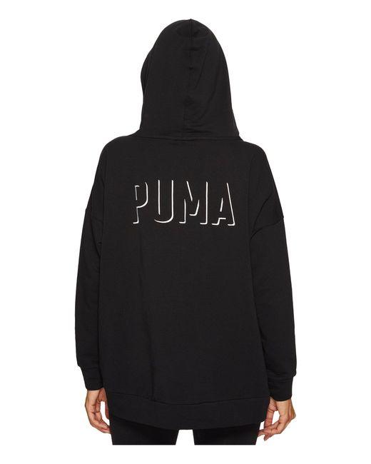 PUMA - Black Fusion Hoodie - Lyst