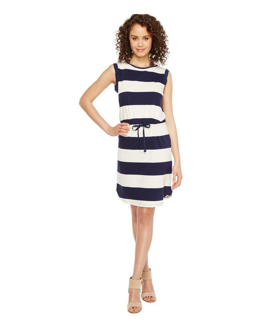 Splendid - Blue Cinch Tee Dress - Lyst