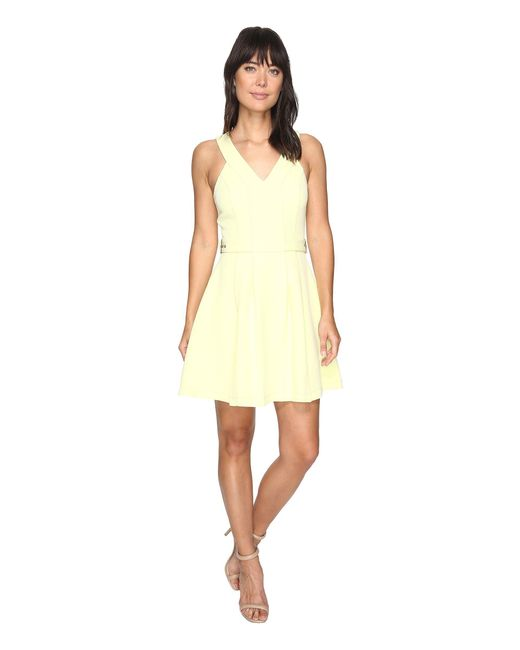 Adelyn Rae | Yellow Andrea Woven Fit And Flare Dress | Lyst