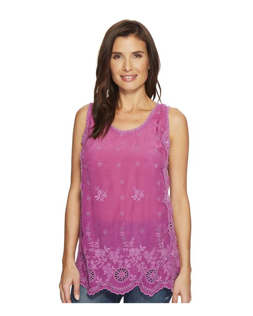 Johnny Was - Purple Kobi Tank Top - Lyst