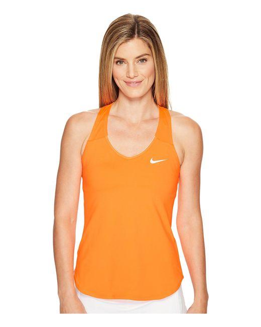 Nike - Orange Court Team Pure Tennis Tank Top - Lyst