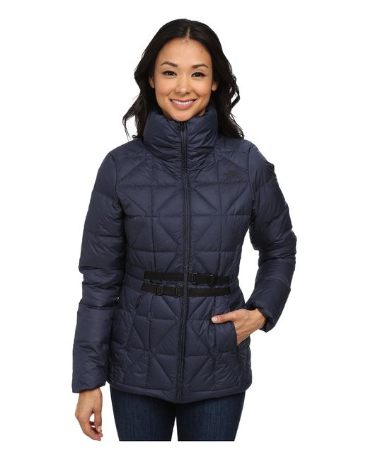 The North Face - Blue Belted Mera Peak Jacket - Lyst
