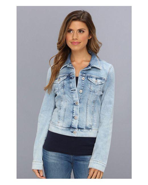 Mavi Jeans - Blue Samantha Denim Jacket In Bleach Vintage - Lyst