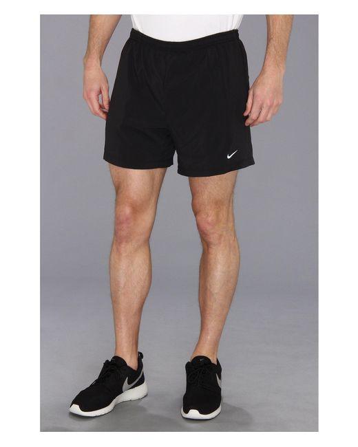 """Nike - Black 5"""" Distance Running Short for Men - Lyst"""