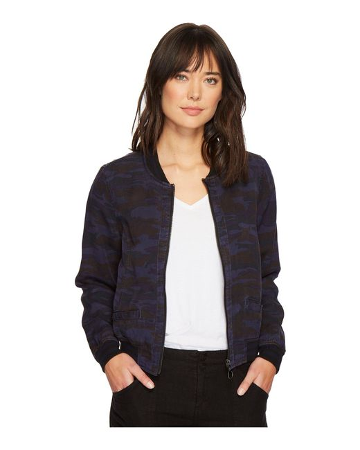 Sanctuary - Blue Shrunken Bomber Jacket - Lyst