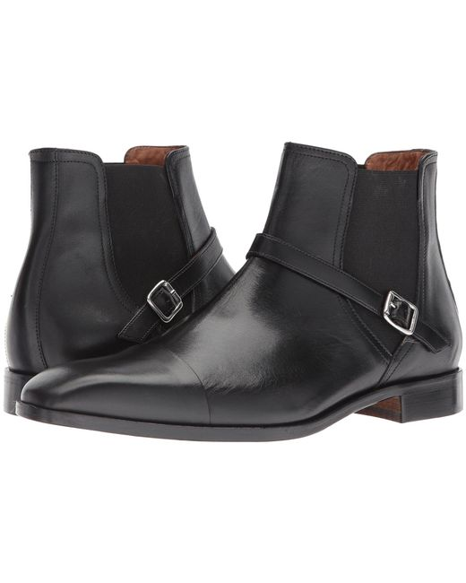 Massimo Matteo - Black Chelsea Buckle Boot for Men - Lyst