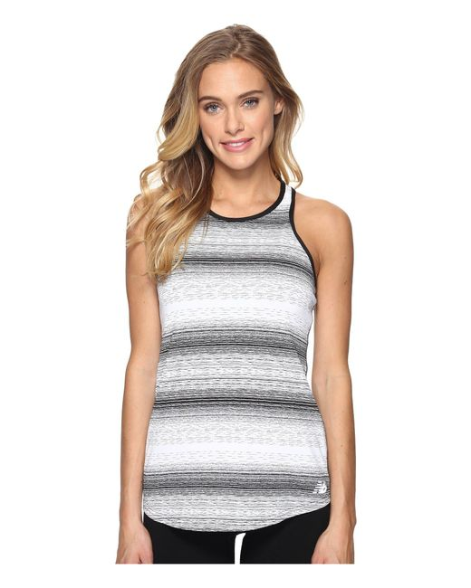 cdc54598735a15 Lyst - New Balance Layer Tank Top in White - Save 53%